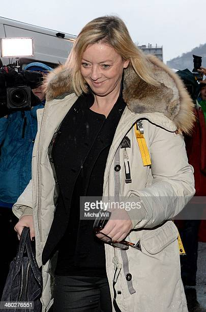 Sabine Kehm manager of the former German Formula One driver Michael Schumacher arrives at the Grenoble University Hospital Centre where he remains in...