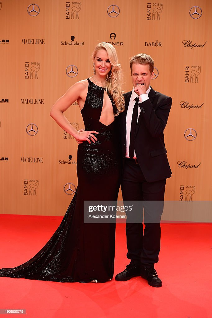 Sabine Lisicki (L) and Oliver Pocher attend the Bambi Awards 2015 at Stage Theater on November 12, 2015 in Berlin, Germany.