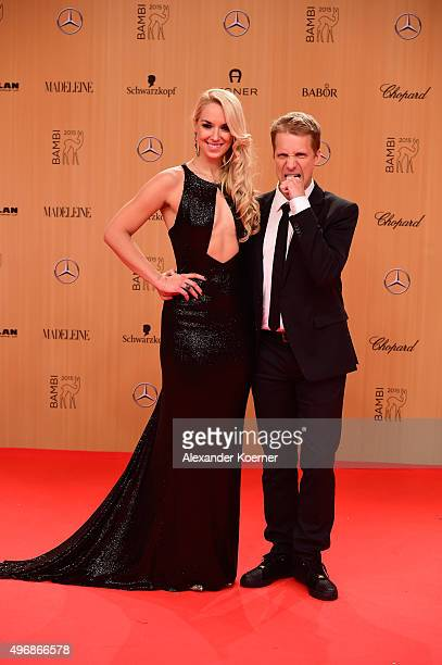 Sabine Lisicki and Oliver Pocher attend the Bambi Awards 2015 at Stage Theater on November 12, 2015 in Berlin, Germany.