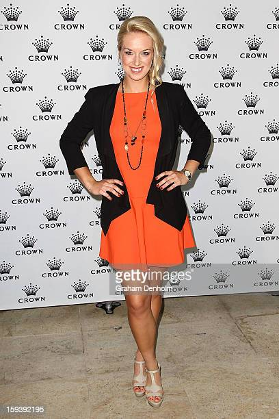 Sabine Lisicki arrives at Crown's IMG Tennis Player's Party at Crown Towers on January 13 2013 in Melbourne Australia