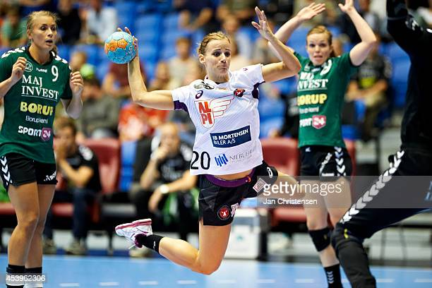 Sabine Pedersen of FC Midtjylland in action during Super Cup Final between Viborg HK and FC Midtjylland in Gigantium on August 22 2014 in Aalborg...