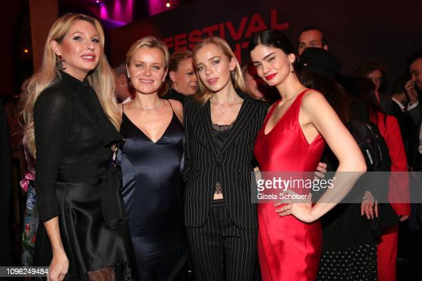 Sabine Piller Barbara Sturm and her daughter Charly Sturm Shermine Shahrivar during the BUNTE BMW Festival Night at Restaurant Gendarmerie during the...