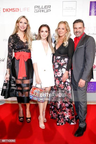 Sabine Piller German singer Grace Capristo Birgit FischerHoeper and Pedro Da Silva attend the Kempinski Fashion Dinner on May 23 2017 in Munich...
