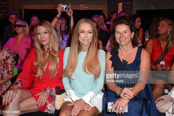 Sabine Piller Jenny Elvers and Claudia Obert attend the Lana Mueller show during the Berlin Fashion Week Spring/Summer 2020 at ewerk on July 1 2019...