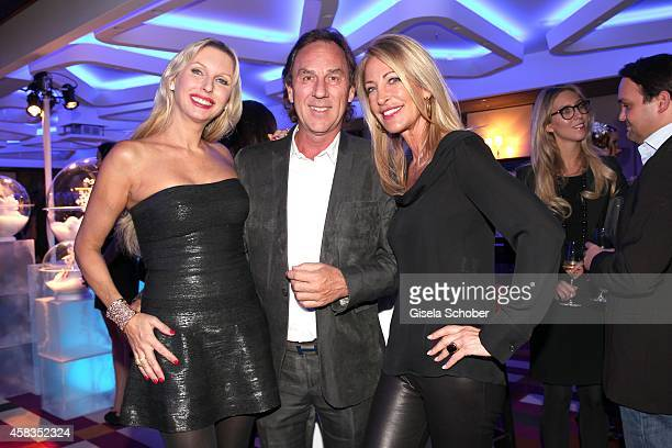 Sabine Piller Ralf Piller Pilar Brehme attend the 'Haute Couture Connection' Cocktail Prolonge at Hotel Vier Jahreszeiten on November 3 2014 in...