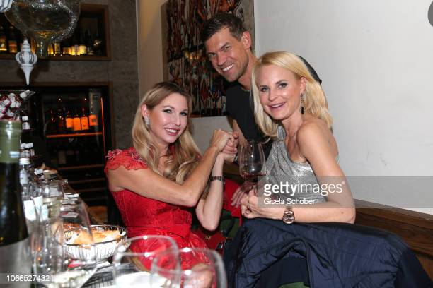 Sabine Piller Sonja Kiefer and her boyfriend Cedric Schwarz during the Christmas Charity Dinner hosted by StefanMross AnnaCarinaWoitschack and...