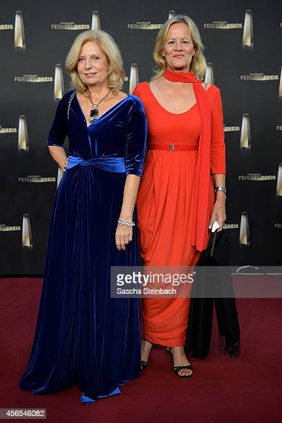 Sabine Postel and Claudia Rieschel arrive at the 'Deutscher Fernsehpreis 2014' at Coloneum on October 2 2014 in Cologne Germany