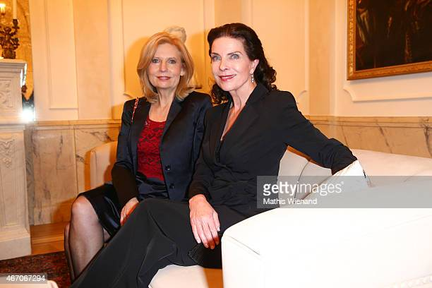 Sabine Postel and Gudrun Landgrebe attend the De Medici Hotel Grand Opening on March 20 2015 in Duesseldorf Germany