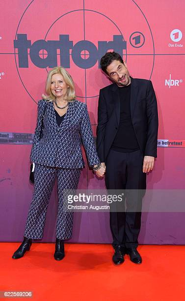 Sabine Postel and Oliver Mommsen attend celebration event of 1000 Episodes of the crime movie 'Tatort' at Cinemaxx Dammtor on November 11 2016 in...