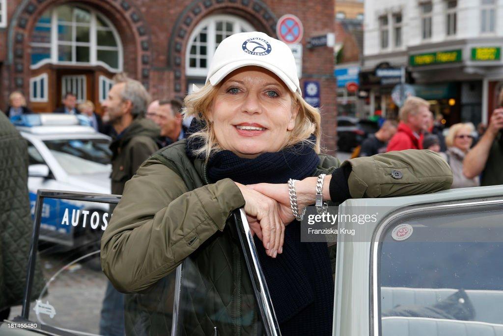 Sabine Postel attends the Hamburg-Berlin Klassik Rallye 2013 - Day 3 on September 21, 2013 in Hamburg, Germany.