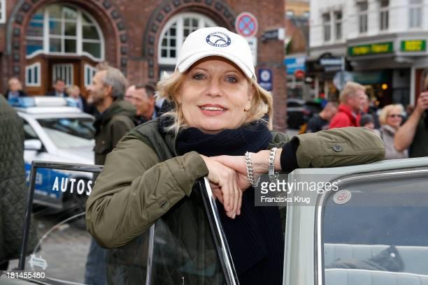 Sabine Postel attends the HamburgBerlin Klassik Rallye 2013 Day 3 on September 21 2013 in Hamburg Germany