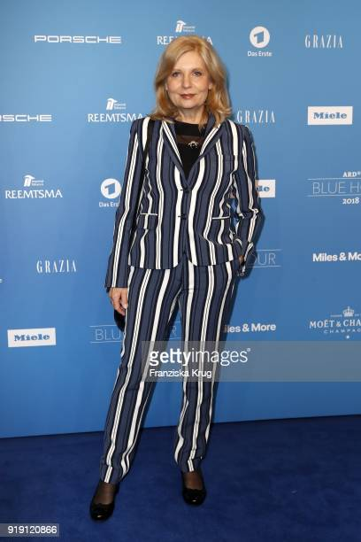 Sabine Postel attends the Porsche at Blue Hour Party hosted by ARD during the 68th Berlinale International Film Festival Berlin at Museum fuer...
