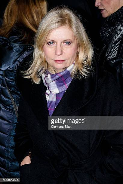Sabine Postel attends the Wolfgang Rademann memorial service on February 11 2016 in Berlin Germany
