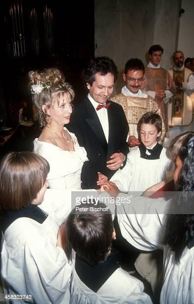 Sabine Postel Ehemann Dr Otto Riewoldt Hochzeit am in St PeterKirche in Köln Deutschland