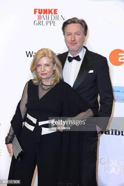 Sabine Postel Martin Armknecht attend the Goldene Kamera on February 22 2018 in Hamburg Germany