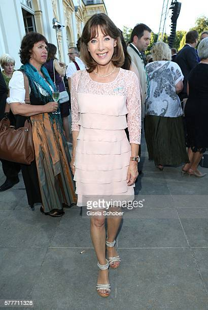 Sabine Sauer during the Summer Reception of the Bavarian State Parliament at Schleissheim Palace on July 19 2016 in Munich Germany