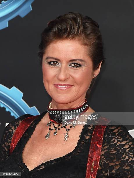 """Sabine Schmitz attends the World Premiere of Series 28 of """"Top Gear"""" at Odeon Luxe Leicester Square on January 20, 2020 in London, England."""
