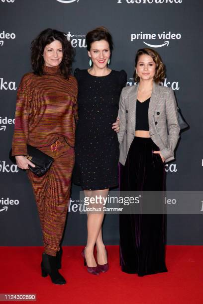 Sabine Vitua, Bettina Lamprecht and Cristina do Rego attend the premiere of the Amazon series 'PASTEWKA' at Cinedom on January 23, 2019 in Cologne,...