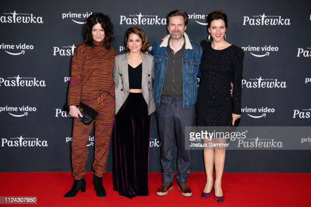 Sabine Vitua, Cristina do Rego, Matthias Matschke and Bettina Lamprecht attend the premier of the Amazon series 'PASTEWKA' at Cinedom on January 23,...