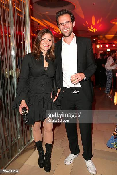 Sabine Wackernagel and her brother Jonas Grosch during the Lola German Film Award 2016 after show party at Palais am Funkturm on May 27 2016 in...