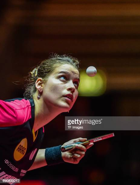 Sabine Winter of Germany in action during the Table Tennis World Championship at Messe Duesseldorf on May 30, 2017 in Dusseldorf, Germany.