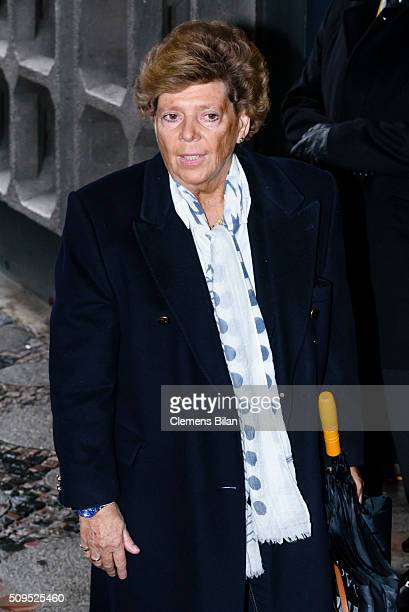 Sabine Wussow attends the Wolfgang Rademann memorial service on February 11 2016 in Berlin Germany