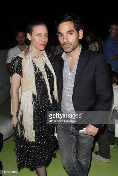Sabisha and James Kaliardos attend the AnOther Magazine's Art Editions launch during Miami Art Basel at the Delano Hotel on December 2 2009 in Miami...