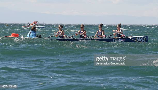 Sable ManonColas PerrineKatel MaryLe Pore Marine and Cuvillier Maiwenn in the Coastal Women's Coxed Quadruple Final Race during the 2014 World Rowing...