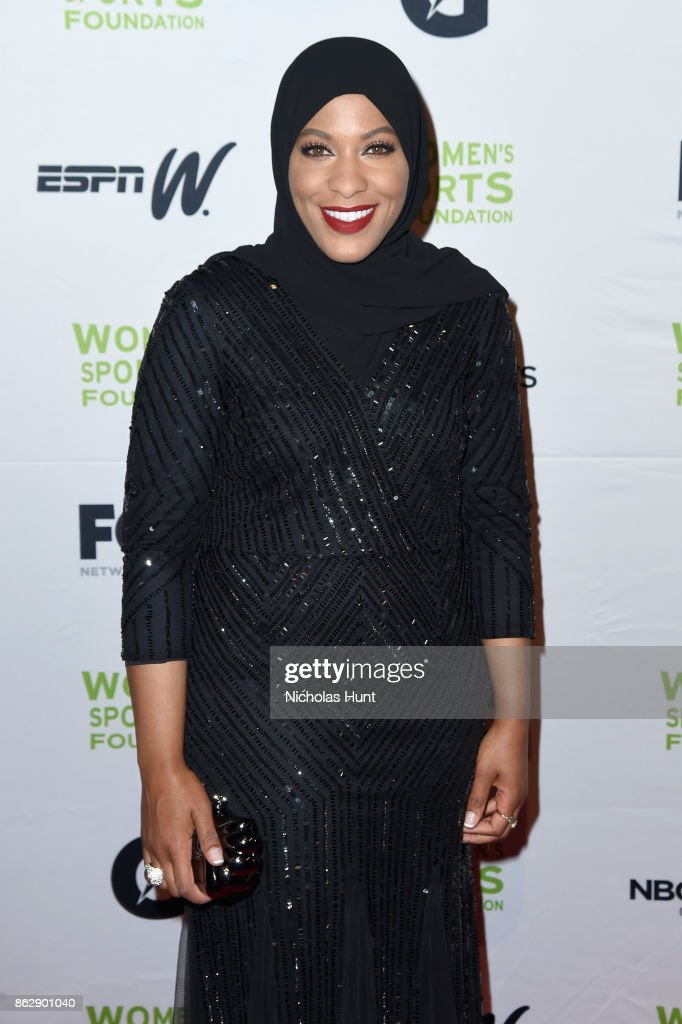 Sabre fencer Ibtihaj Muhammad attends the The Women's Sports Foundation's 38th Annual Salute To Women in Sports Awards Gala on October 18, 2017 in New York City.