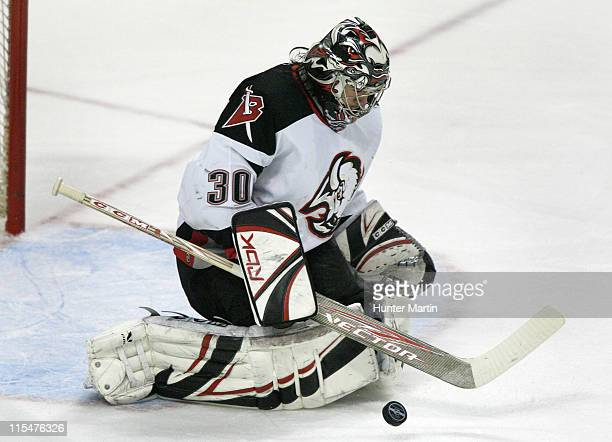 Sabres goalie Ryan Miller makes a first period save at The Wachovia Center in Philadelphia Pa Buffalo Sabres at Philadelphia Flyers Game 6 Eastern...