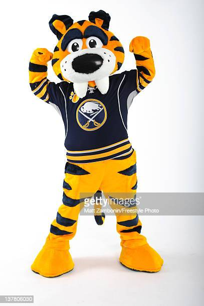 Sabretooth mascot of the Buffalo Sabres poses for a portrait during 2012 NHL AllStar Weekend at Ottawa Convention Centre on January 26 2012 in Ottawa...