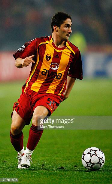 Sabri Sarioglu of Galatasaray in action during the UEFA Champions League group C match between Galatasaray and Liverpool at the Ataturk stadium on...