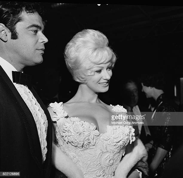 Sabrina aka Norma Ann Sykes and Mario Costello attends an event in Los AngelesCA