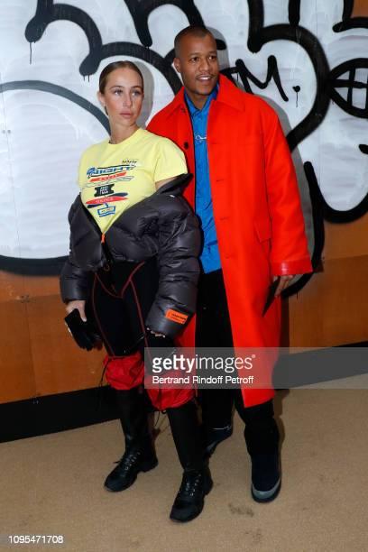 Sabrina Albarello and Heron Preston attend the Louis Vuitton Menswear Fall/Winter 2019-2020 show as part of Paris Fashion Week on January 17, 2019 in...