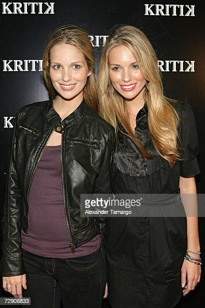 Sabrina Aldridge and Kelly Aldridge pose at the KRITIK clothing launch at Casa Casaurina on December 30 2006 in Miami Beach Florida