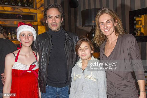 Sabrina Brivady actor Anthony Delon his daughter Liv and Celine Charloux President of the charity association 'Les P'tits Cracks' attend the...