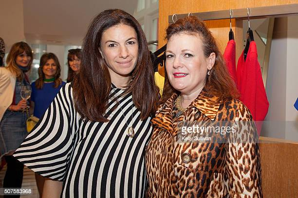 Sabrina Buell and Jennifer Riser pose for a photo at Barneys New York on January 29 2016 in San Francisco California
