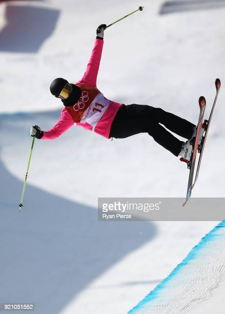 Sabrina Cakmakli of Germany competes during the Freestyle Skiing Ladies' Ski Halfpipe Final on day eleven of the PyeongChang 2018 Winter Olympic...