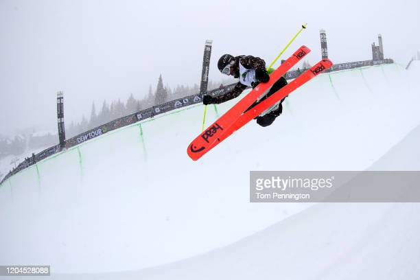 Sabrina Cakmakli of Germany competes in the Ski Team Challenge - Modified Superpipe Presented by Toyota Event during the Dew Tour Copper Mountain...