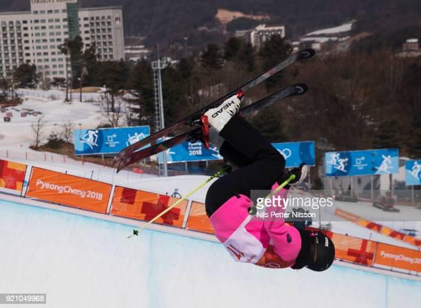 Sabrina Cakmakli of Germany during the women's Halfpipe Freestyle Skiing at Phoenix Snow Park on February 20 2018 in Pyeongchanggun South Korea