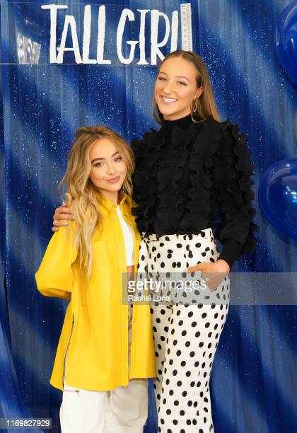Sabrina Carpenter and Ava Michelle attend a photo call For Netflix's Tall Girl at the Beverly Wilshire Four Seasons Hotel on August 23 2019 in...