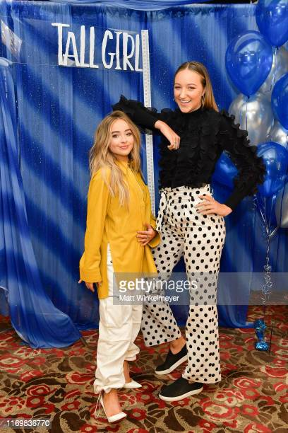 Sabrina Carpenter and Ava Michelle attend the Photo Call for Netflix's Tall Girl at the Beverly Wilshire Four Seasons Hotel on August 23 2019 in...
