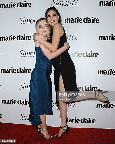 Sabrina Carpenter and Bailee Madison attend the Marie Claire Fresh Faces party at Sunset Tower Hotel on April 11 2016 in West Hollywood California