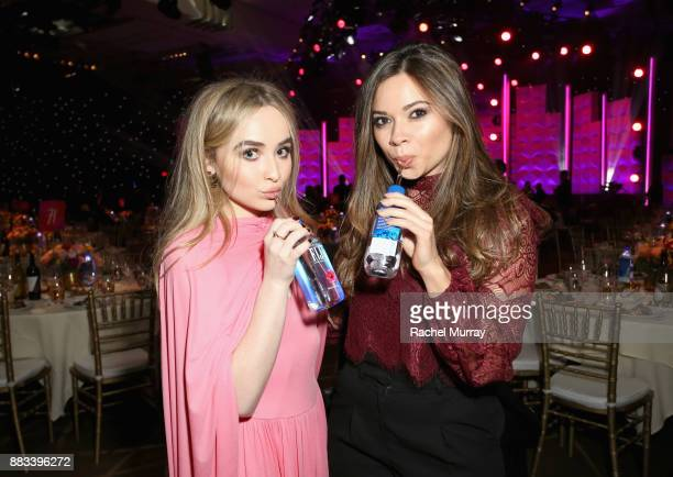 Sabrina Carpenter and guest attend Billboard's Women in Music 2017 presented in partnership with FIJI Water on November 30, 2017 in Hollywood,...