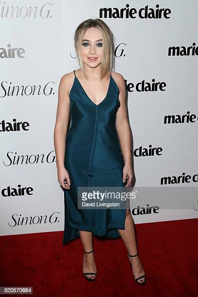 Sabrina Carpenter arrives at the Marie Claire Fresh Faces Party at the Sunset Tower Hotel on April 11 2016 in West Hollywood California