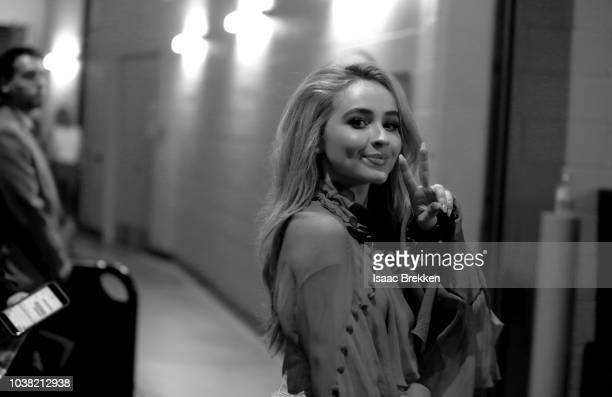 Sabrina Carpenter attends the 2018 iHeartRadio Music Festival at TMobile Arena on September 22 2018 in Las Vegas Nevada