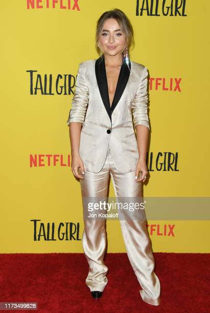 Sabrina Carpenter attends the Premiere Of Netflix's Tall Girl at Netflix Home Theater on September 09 2019 in Los Angeles California
