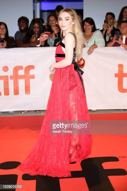 Sabrina Carpenter attends the 'The Hate U Give' premiere during 2018 Toronto International Film Festival at Roy Thomson Hall on September 7 2018 in...