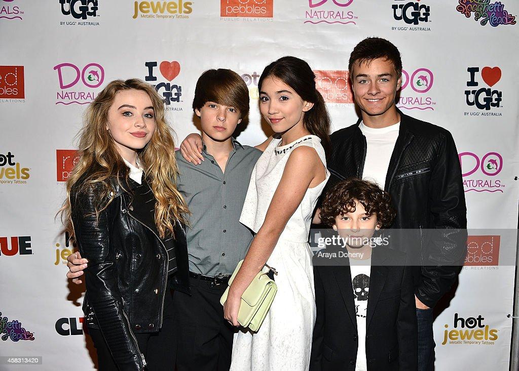 Sabrina Carpenter, Corey Fogelmanis, Rowan Blanchard, August Maturo and Peyton Meyer celebrate Rowan Blanchard's 13th Birthday on November 2, 2014 in Los Angeles, California.