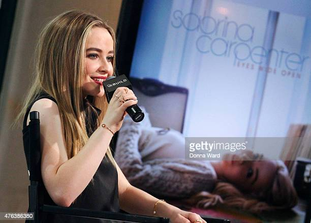 Sabrina Carpenter discusses 'Girl Meets World' and 'Further Adventures in Babysitting' during the AOL BUILD Speaker Series at AOL Studios In New York...